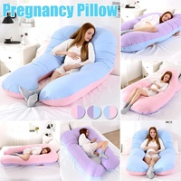 Sleeping Support Pillow Cotton Pillowcase U Shape Maternity Pillows Pregnancy Side Sleepers Bedding For Pregnant Women Body