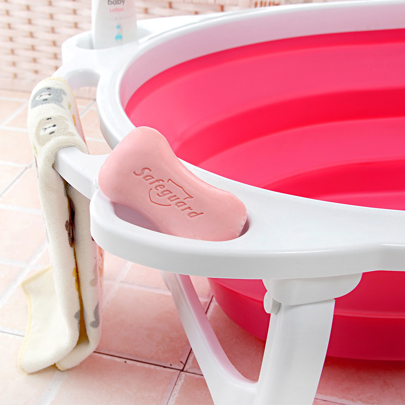 Strong Design folding baby bath tub for Toddlers Kid Portable ...
