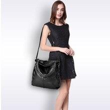Leather Sheepskin Tote Women Bag