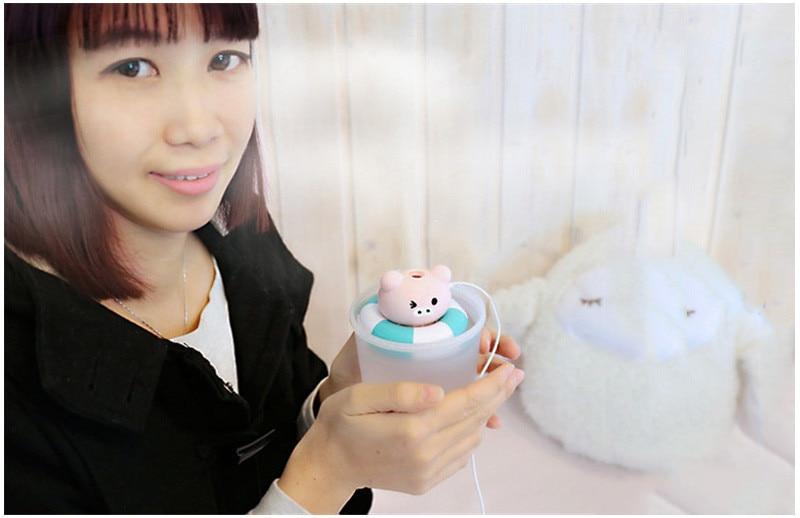 קריקטורה בעלי חיים אדים דוב חמוד USB מכשיר אדים חזיר ערפל להכנת צפרדע אוויר מכשיר אדים יצירתי מטהר אוויר עבור הבית & Office