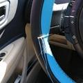 Trança de couro No Volante-Lazer esportes de Direção Da Roda De Carro Tampa da roda Auto Ponto No Envoltório Capa Com Agulhas e fio