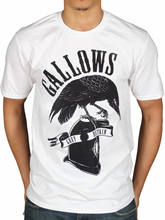 Official Gallows Grey Britain T-Shirt Death Birth Orchestra Wolves *All Sizes* Shirt Cotton Hight Quality Man T Shirt Animal(China)