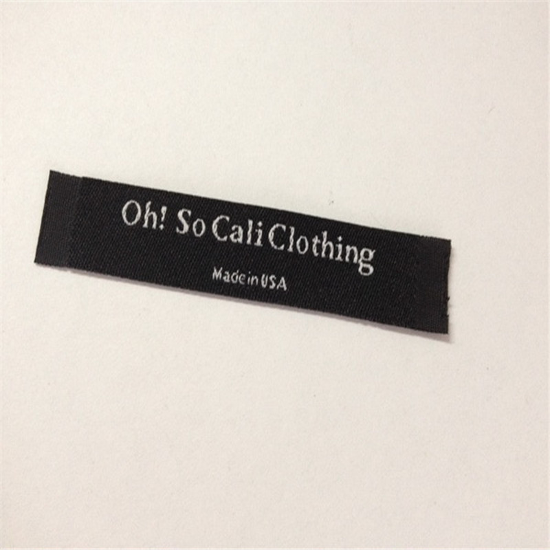 Customized Garment Woven Label For Clothing Main Label