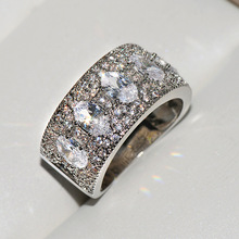 Luxury Wedding Engagement Rings 925 Silver Jewelry White Pink CZ Zircon Stone Women for Party Top Quality Bague Femme