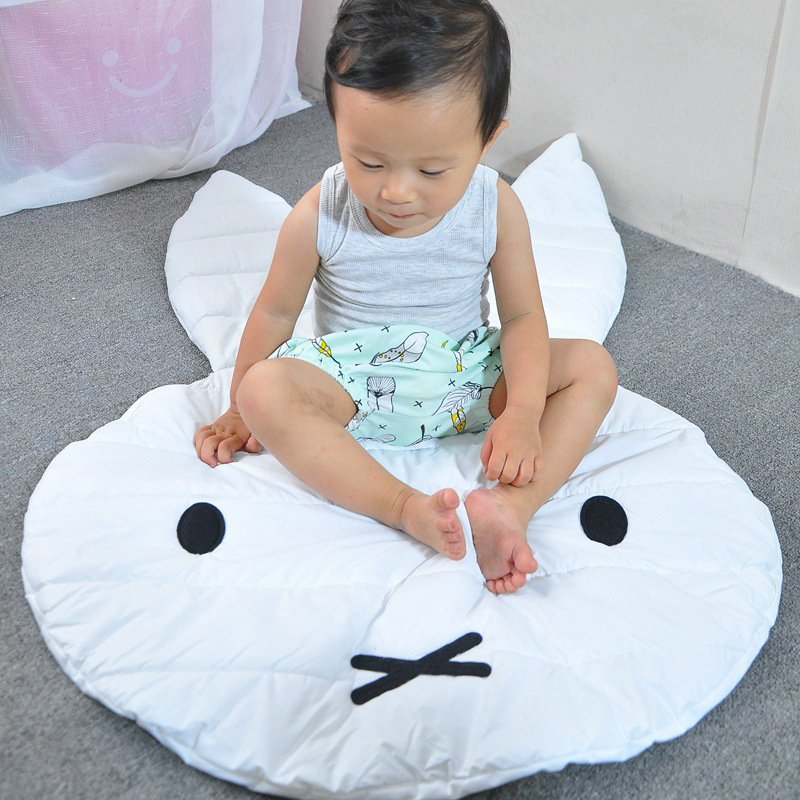 Newborn Kids Game Blanket Baby Soft Cotton Crawling Blanket Rabbit Pattern Baby Game Mat  Baby Room Decoration Floor Mats
