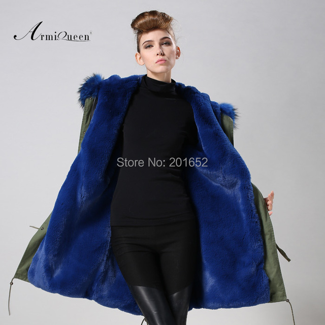 Women raccoon Winter Warm Parka high quality Faux Fur parka Hooded Coat Overcoat Tops Women's Fur Jacket 2