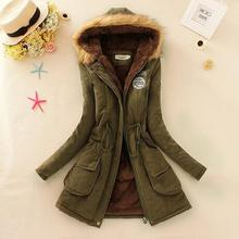2019 New Hooded Ladies Long Parkas Women Winter Fashion Brand Fur Coat Thickening Female Cotton Jackets Womens warm Outwear