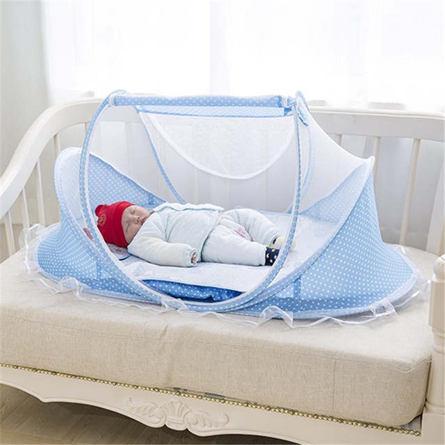 5ad9dc13e5b placeholder Baby Crib Free Installation Foldable Baby Mosquito Net Baby  Room Decor Newborn Cotton Sleep Travel Bed