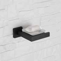 Black Finish stainless steel Soap dish 136*149*55mm Unique design Bathroom Accessory