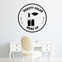 Beauty Salon Lipstick Makeup Wall Stickers Home Decor For Kids Rooms Diy Decoration Art Sticker Murals