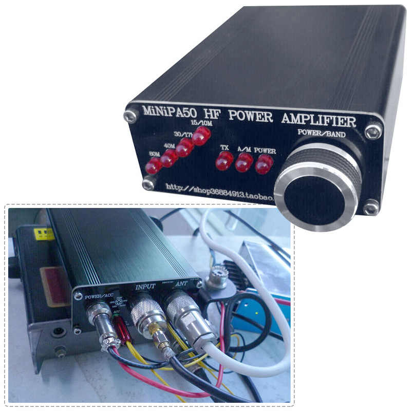 MiNiPA50 45W HF Power Amplifier For YASEU FT-817 ICOM IC-703 Elecraft KX3  QRP Frequency Band: 80m 40m 30m-17m 15m-10m