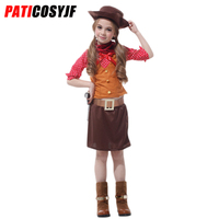 Anime Cosplay Girls Kids Cowgirl Costume Halloween Party Dress Up Costume Western Cowgirl Fancy Dress