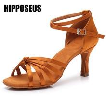 Бальные новые туфли для латинских танцев для женщин/девочек/дамы Танго и сальса на высоком каблуке для внутреннего танцев атлас/ПУ белый красный