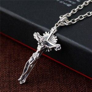 Image 2 - GAGAFEEL collar de plata de ley 925 con Cruz colgante, joyería de moda, para hombres y mujeres