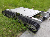 Hello Maker T500 Silver Alloy DIY Tank Chassis Robbot Chassis