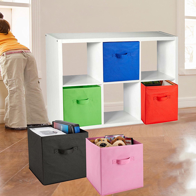 Superbe Home Storage Foldable Book Underwear Bra Socks Ties Storage Box Cube Basket  Bins Organizer Clothes Containers