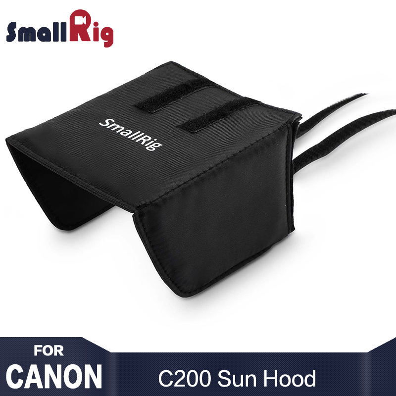SmallRig Camera Quick Release Sun Hood for Canon C200 does not block any buttons and ports on the left side of monitor 2085 cell phone tripod with bluetooth remote control mobile phone selfie stick mini tripod for sport camera light monopod with clip