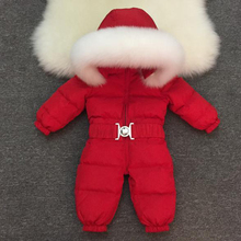 2019 New Baby Boys Girls Winter Rompers Children Outerwear Jackets Coats Thicken Winter Warm Hoodie Clothes Windproof Snowsuit