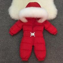 2019 תינוק חדש בני בנות חורף Rompers ילדי מוצרי הלבשה תחתונה מעילי מעילים לעבות חורף חם הסווטשרט בגדי Windproof חליפת שלג