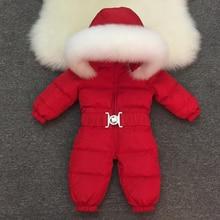 2019 neue Baby Jungen Mädchen Winter Strampler Kinder Oberbekleidung Jacken Mäntel Verdicken Winter Warme Hoodie Kleidung Winddicht Schneeanzug
