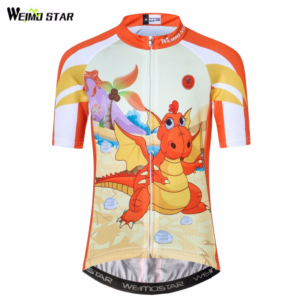 Sports Apparel Weimostar Childrens Cycling Jersey Short Sleeve Full Zipper Kids Bike Shirt