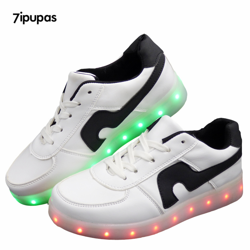 2016 LED shoes 11 Colors chaussures Unisex usb Charging Led Lights shoes Emitting Luminous Men Women sport dance Casual Shoes