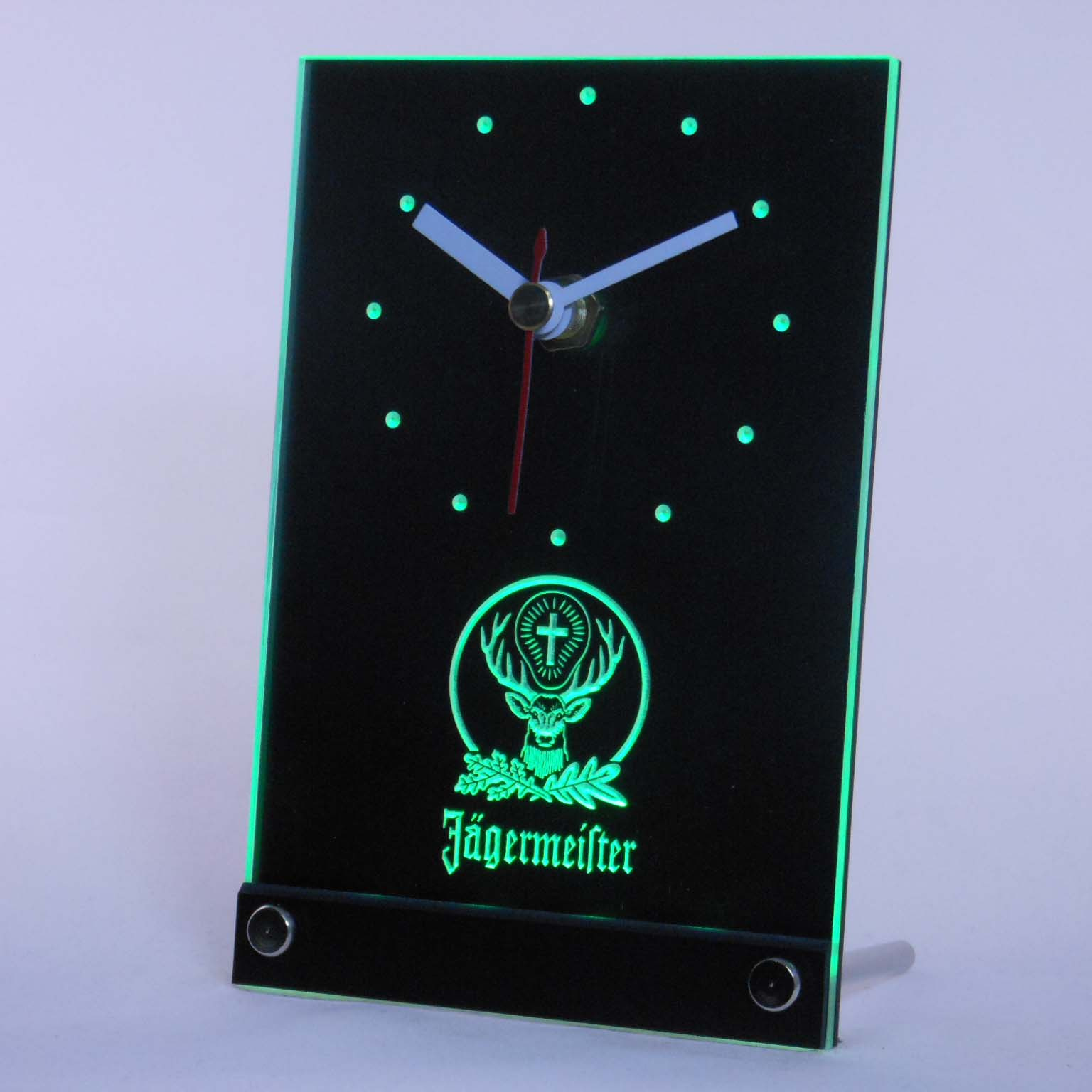 Tnc0572 Jagermeister 3D LED Table Desk Clock