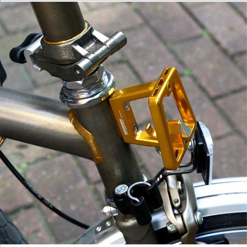 ACE Alloy Bicycle Front Carrier Block Hook For Brompton Folding Bike Lightweight rockbros titanium ti pedal spindle axle quick release for brompton folding bike bicycle bike parts