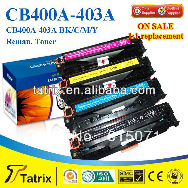 FREE DHL MAIL SHIPPING. CB402A Toner Cartridge ,Triple Test CB402A Toner Cartridge for HP toner Printer