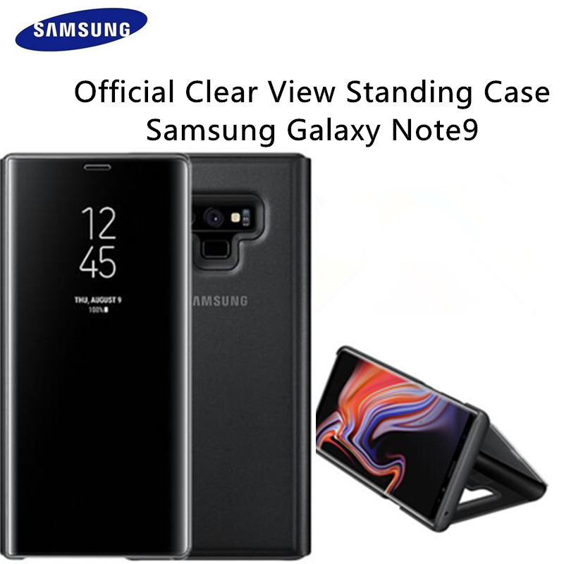 100% Genuine Original Authentic Samsung EF-ZN960 Clear View S-View Cover for Samsung Galaxy Note 9 Standing Case Kickstand Black100% Genuine Original Authentic Samsung EF-ZN960 Clear View S-View Cover for Samsung Galaxy Note 9 Standing Case Kickstand Black