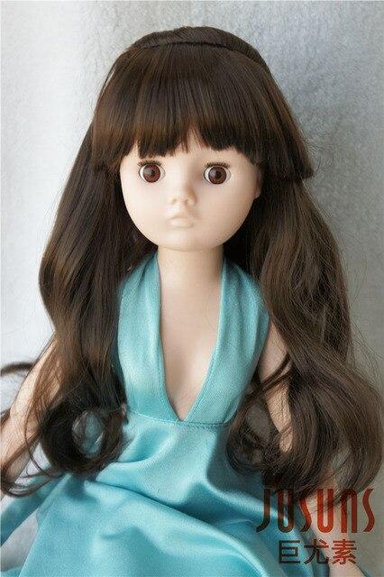 JD096 23-24 СМ 9-10 дюймов Длинные волнистые конский волос Syntheic мохер Кукла аксессуары