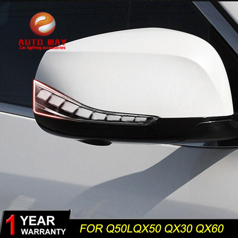 Car Styling free Shipping Car Led Lamp rearview mirror light lamp for infiniti QX50 Q50l Q50 Q70 QX30 QX60 infiniti Q60 Q30