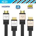 ICZI HDMI to HDMI Cable 2 Pack 1.5M 4K @60Hz Gold 1M Silver Aluminum Body Gold-Plated HDMI Cable Supports Ethernet 3D 4K etc
