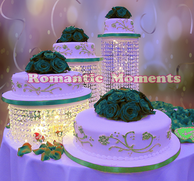 Size Diameter 20 30cm Wedding Cake Stand Crystal Holder Centerpiece Decoration