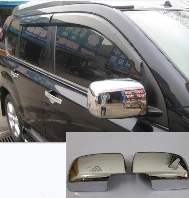 ABS Хромированная Боковая дверь заднего вида зеркала Накладка для автомобиля моделирование для Nissan X-Trail X Trail T31 2008 2009 2010 2011 2012 2 шт