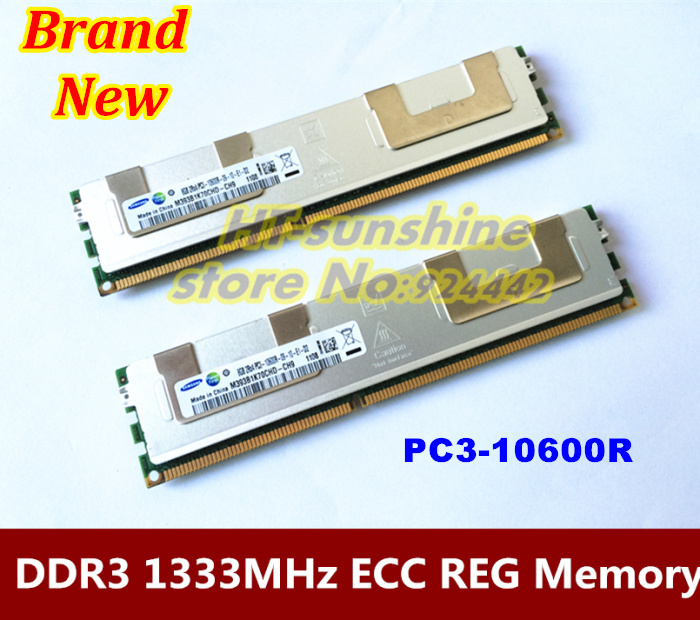Original & Free shipping RAM For Server computer 2*8GB 16GB DDR3 1333 MHz ECC REG PC3-10600R Server memory CANNT WORK ON PC