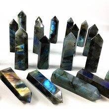 1000g Natural heavy flash labradorite quartz point wand crystal obelisk reiki healing energy gemstone for home decora цена