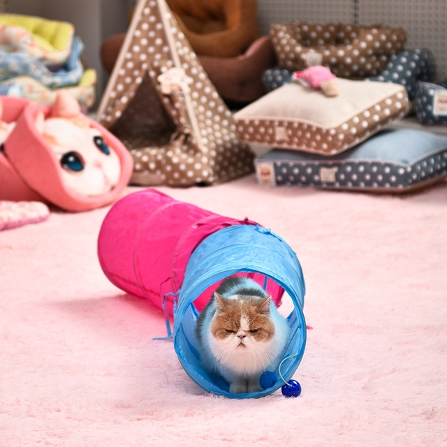Tunnel Toy With Balls For Cats (2 Colors)