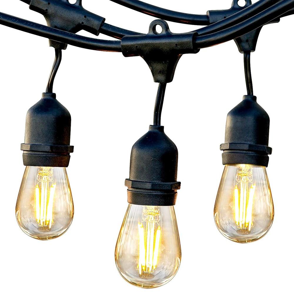 Waterproof 5M 10M E27 Bulbs LED String Lights Indoor Outdoor Commercial Grade Street Garden Backyard Patio Holiday String Light