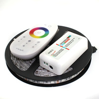 Free shipping L13 5050 RGB LED Strip 5m + 2.4G Touch controller DC12V 60LED/m RGB Flexible LED Light Sets.