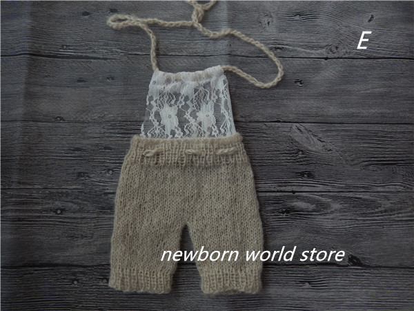 baby pants ,newborn photography props mohair and lacepants.