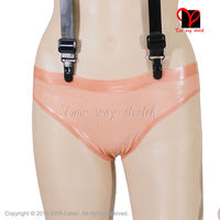 Flesh Plain Latex Briefs Underwear shorts Sexy Classic low cut ubber Underpants bottoms pants KZ 012