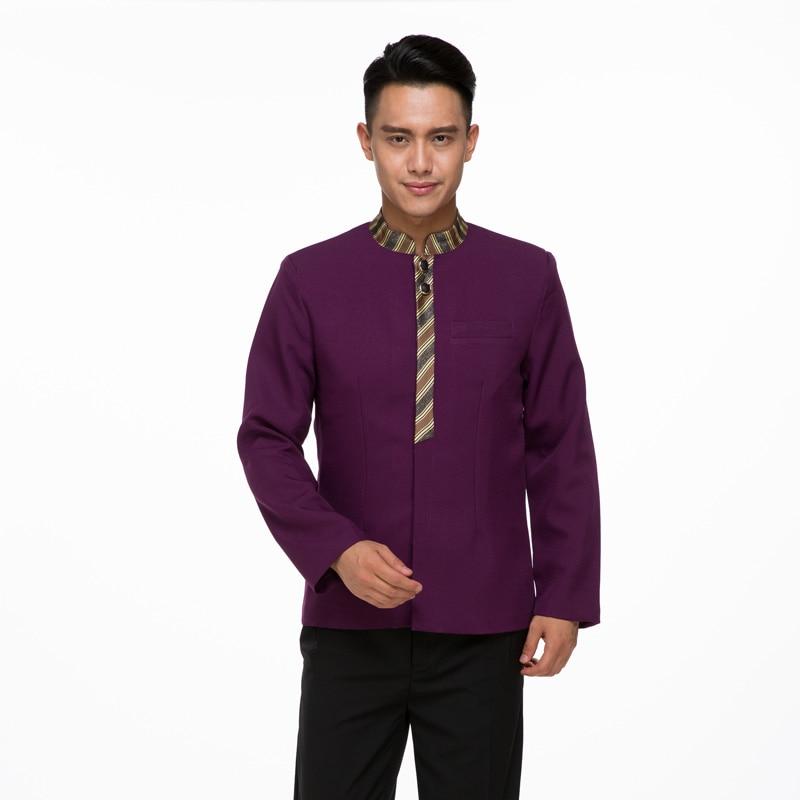Šéfkuchař Uniform Hotel Waiter Uniform Chinese Chinese Shop Attendant Oblečení s dlouhým rukávem