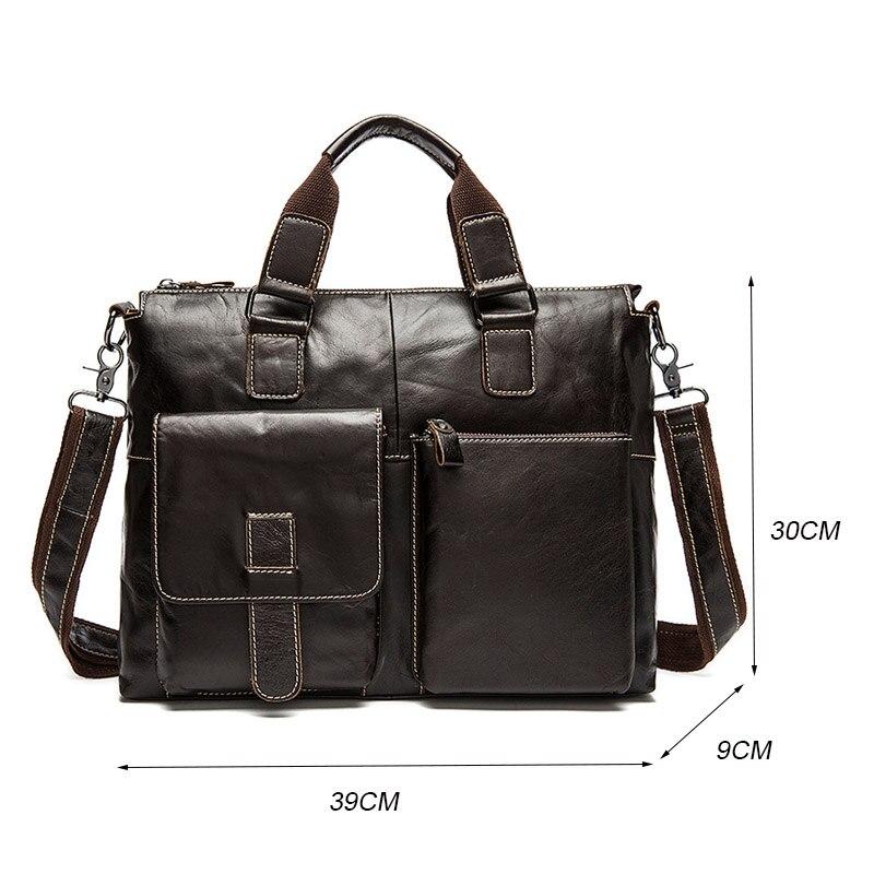 Męska teczki prawdziwej skóry męska skórzane torby Crossbody torba na Laptop biznes torebki torby na ramię duża pojemność w Teczki od Bagaże i torby na  Grupa 2