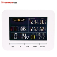 TS 76 Multifunction Wireless Weather Station Clock Barometer Indoor And Outdoor Temperature Hygrometer