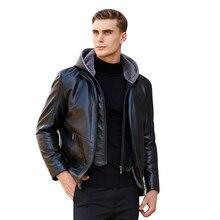 Men Leather Jacket Fleece Business Casual Coats Soft PU & Suit Mens Jackets Jaqueta Masculinas Couro