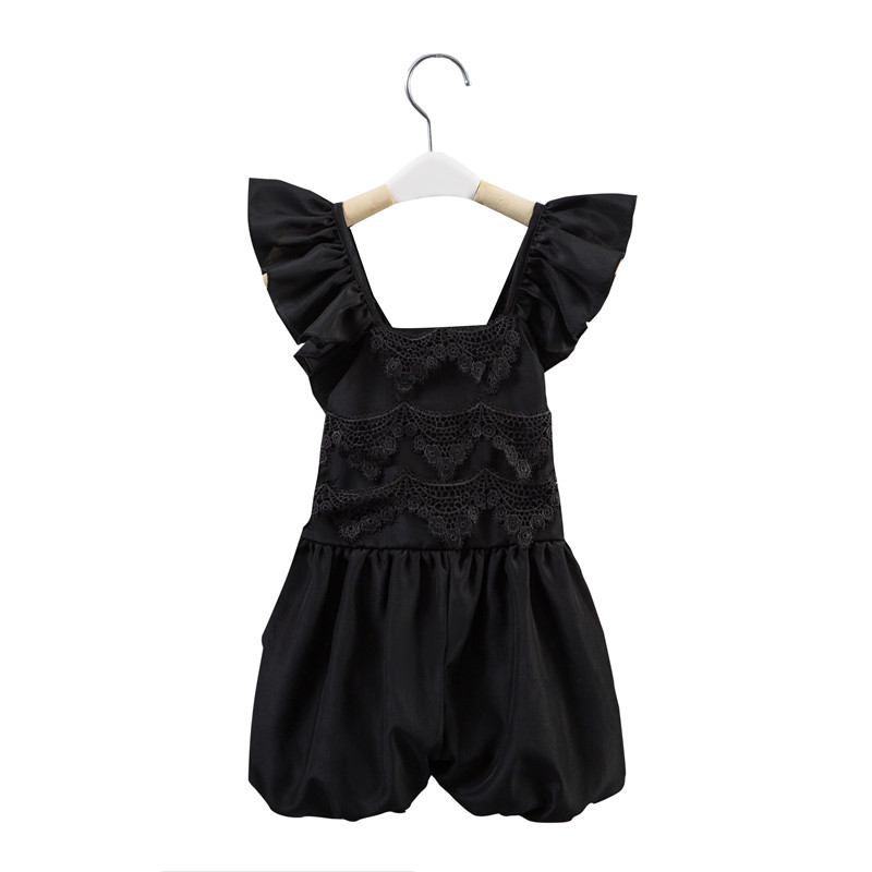 2016 Hot sale baby girls kids ruffle lace romper One-Pieces Lace Romper baby girl clothes children summer clothes