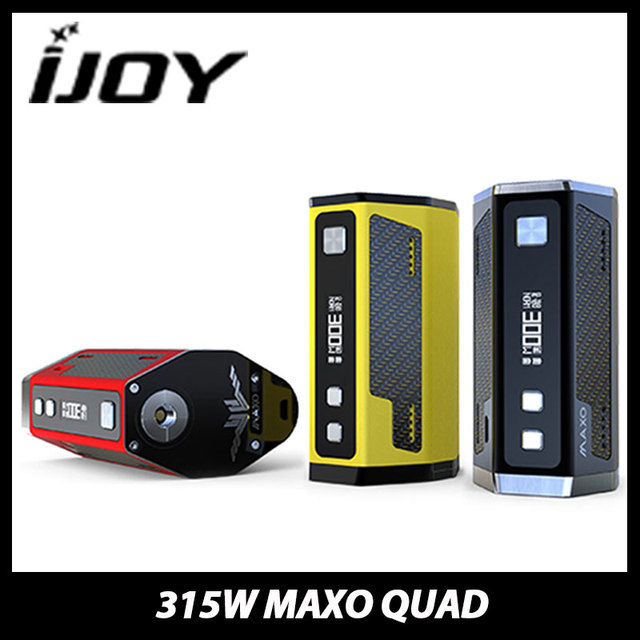 Новый 315 Вт IJOY MAXO QUAD 18650 TC ПОЛЕ MOD Электронная Сигарета прошивка Обновляется ijoy MAXO QUAD Контроля Температуры Мод Vape без батареи