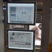 (2 unit/Colonna) A3 Double Sided LED Magnetica Panel Cavo Appeso Segni Display per Agente Immobiliare  galleria  metropolitana  Shopping Centre-in Insegne luminose da Luci e illuminazione su
