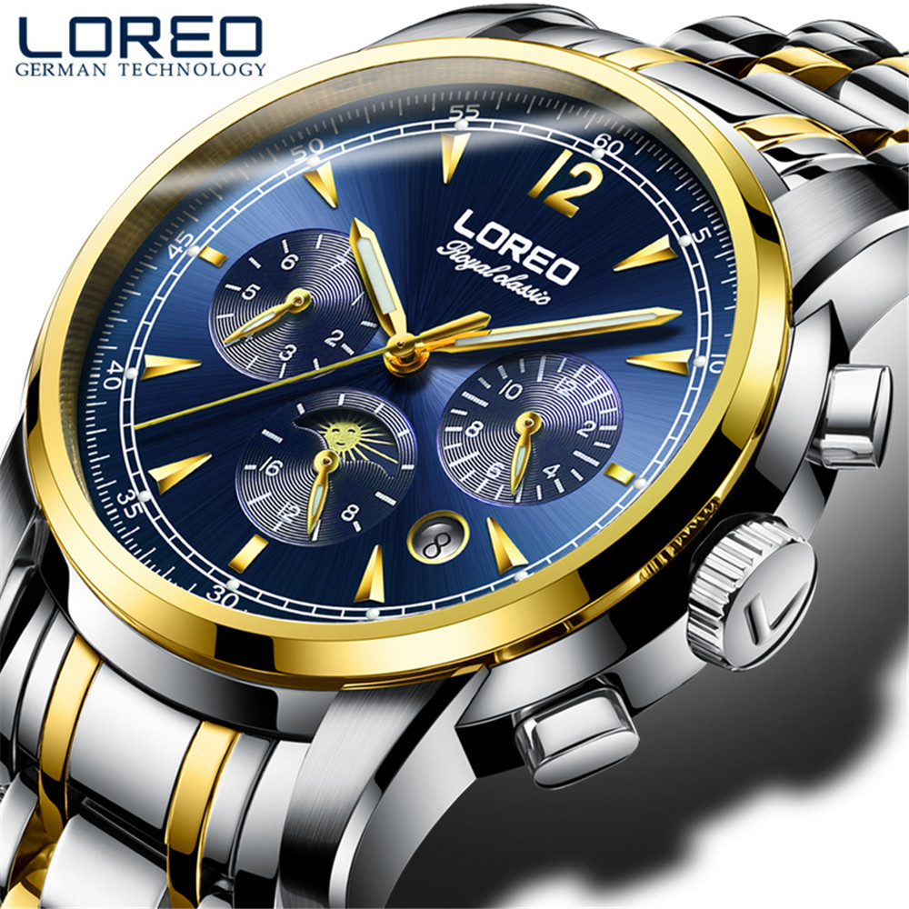Luxusní módní značka automatické hodinky Módní nové pánské hodinky Auto mechanické hodinky 50m vodotěsné Sapphire Glass relogio
